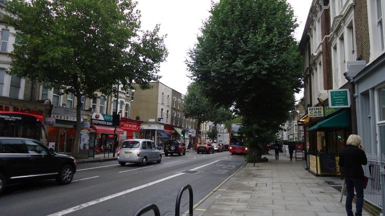 Ruas próximo do ponto de metrô Hammersmith